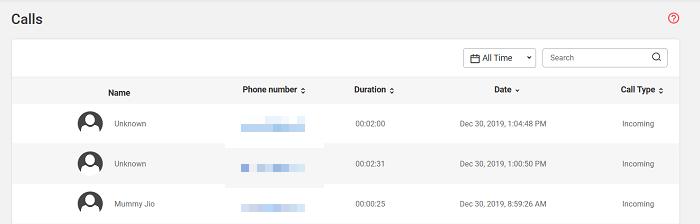 Spyzie call tracking