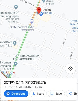 track someone's location using Google Maps - directions from whatsapp
