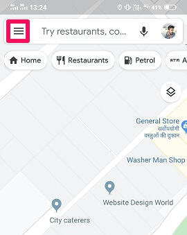 google maps settings to track location