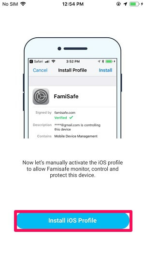 install iOS profile