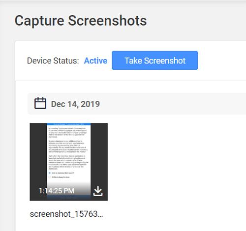 live screenshots