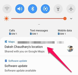 maps notification