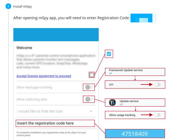 installing mspy - mspy details in the app