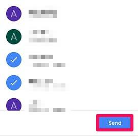 select contact