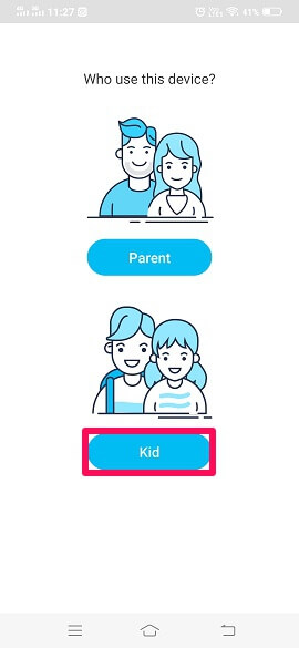 select kid profile