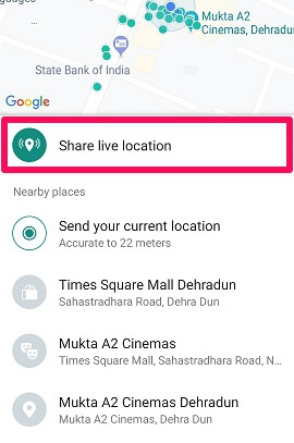 share live location