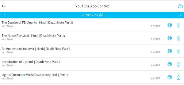 youtube control