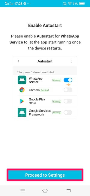 enable autostart