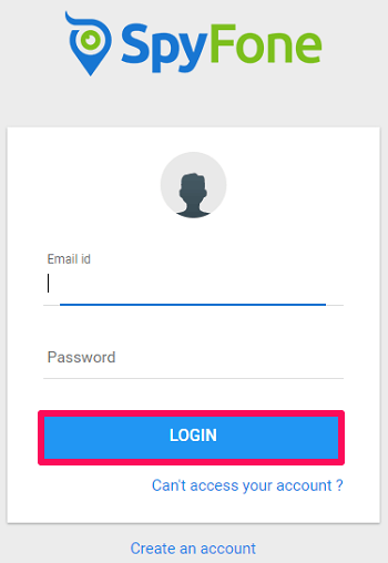 login with spyfone credentials