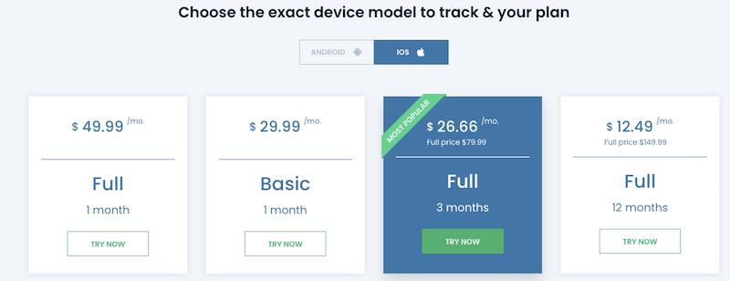 uMobix iPhone license pricing