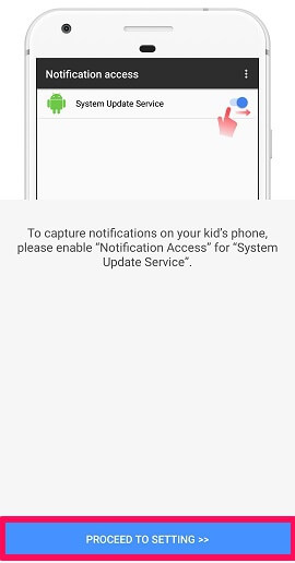 notification access from target device