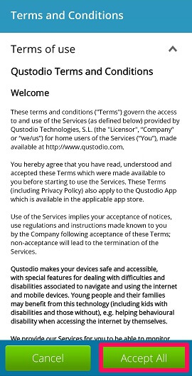 accept qustodio terms and conditions