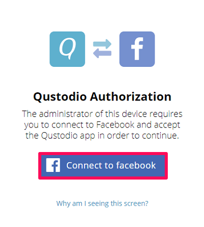 connect facebook and qustodio