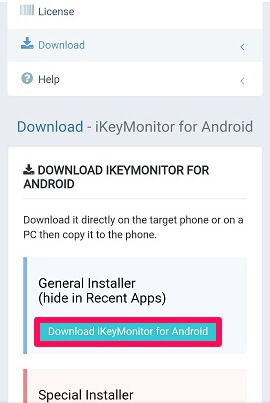 download ikeymonitor on target device