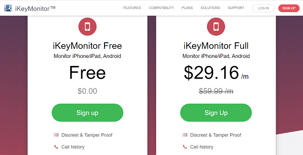 pricing of ikeymonitor