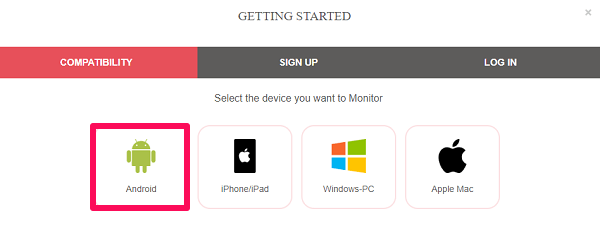 select device type on parent device