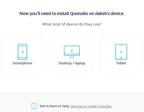 select the type of device