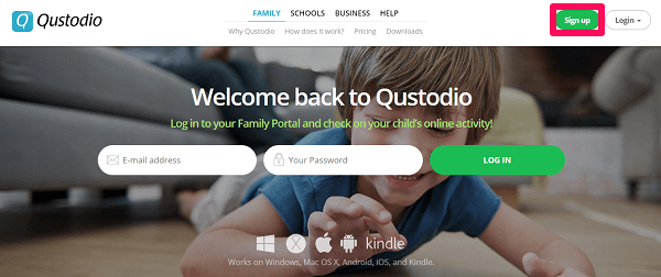 setting up parent device
