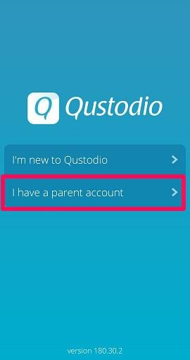 setup Qustodio on child's device