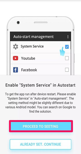 auto start management settings