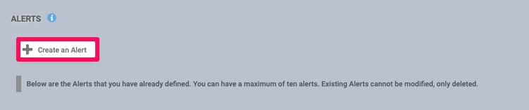 create a alert