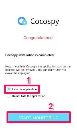 hide cocospy app