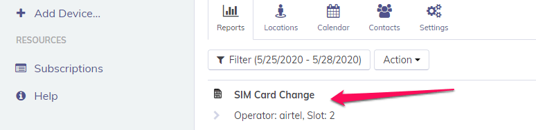 sim change notification