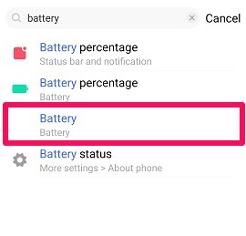 battery option