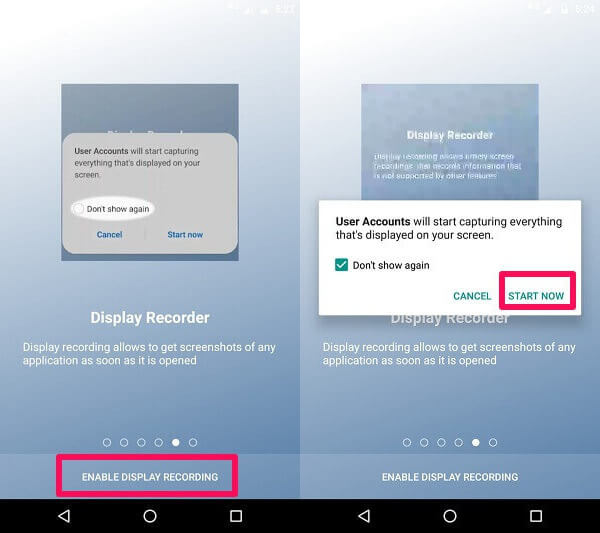 Allowing Screen Recorder On uMobix Android App