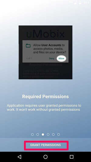 Granting Permissions For uMobix Android App