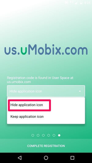 Hiding App Icon Of uMobix
