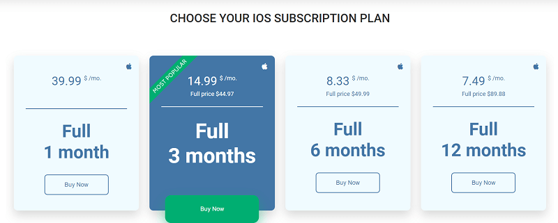 uMobix iOS Plans