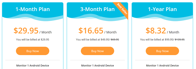 cost of KidsGuard Pro