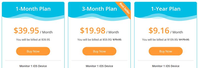 KidsGuard Pro iOS Plans