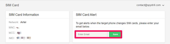 get simcard alert