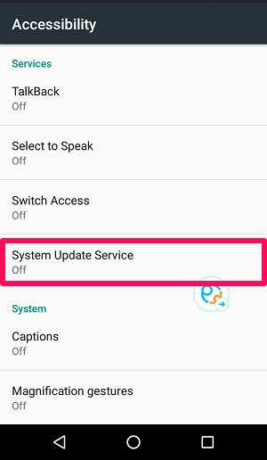 Activate system update service