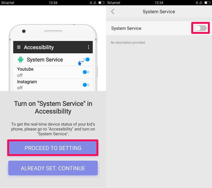 changing accessibility settings