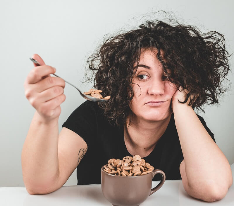 change in eating habits