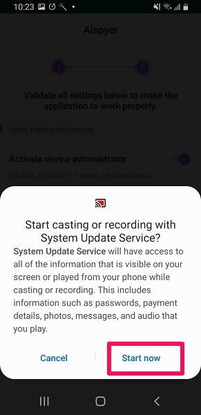 recording permission