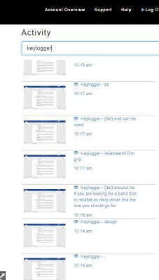 checking keylogger activities