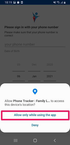 device location access
