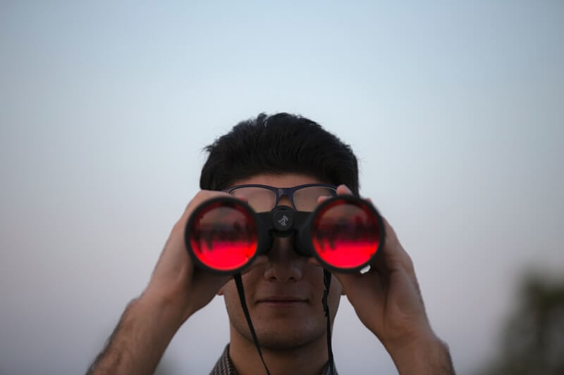 spying with binocular