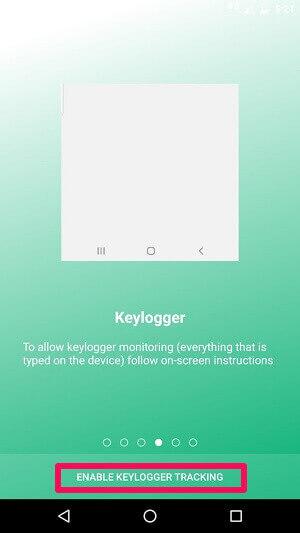 enable keylogger tracking