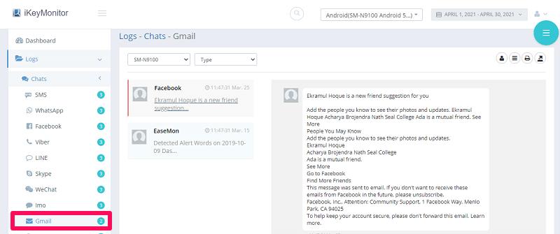 gmail tracking ikeymonitor