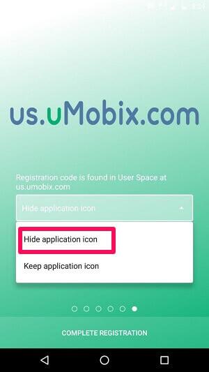 hide application icon