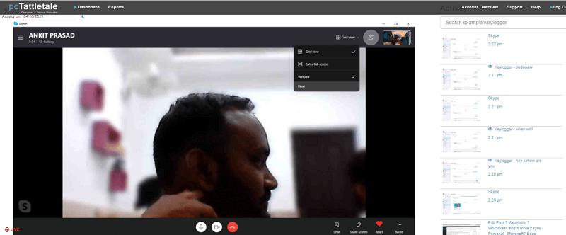 recording video call