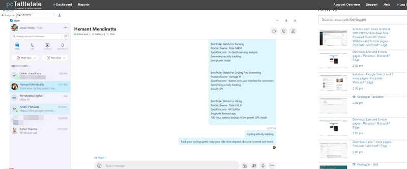 spying on skype conversations on pc
