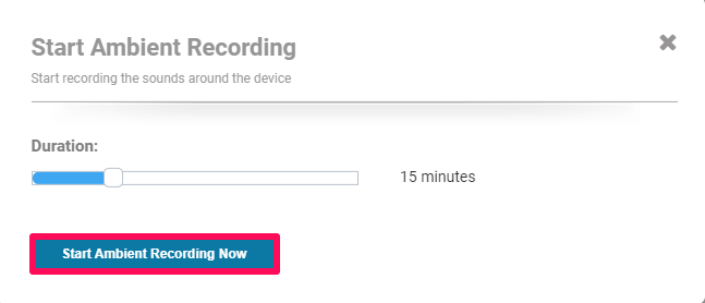 selecting duration