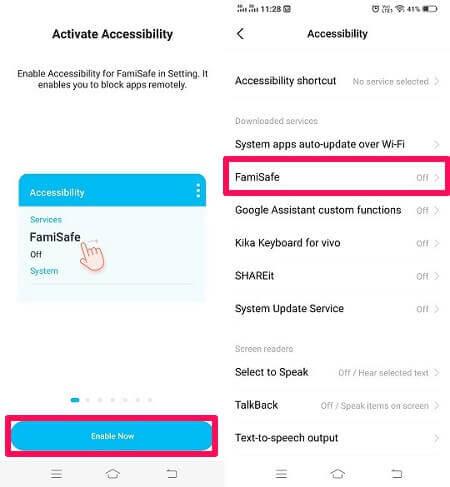 accesibility settings