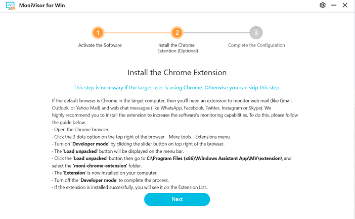 installing chrome extension